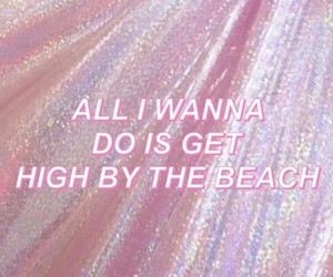 pink, lana del rey, and high by the beach image