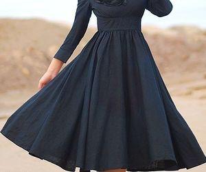 black dress, fashion, and wedding guest dress image