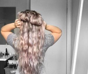 hair, long hair, and babe image