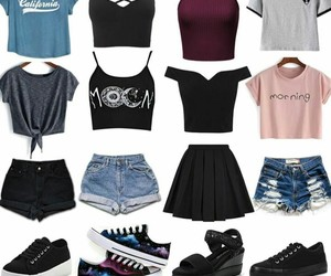 clothes, outfit, and shoe image
