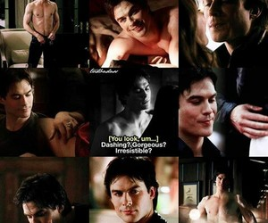 gorgeous, damon salvatore, and Hot image