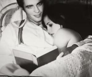 black and white, kristen stewart, and book image