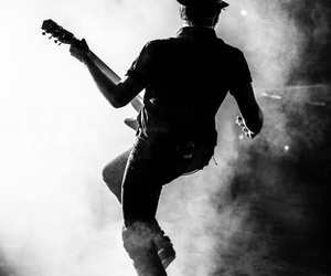 fall out boy, patrick stump, and black and white image