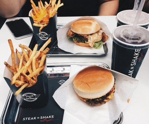 black, burgers, and food image