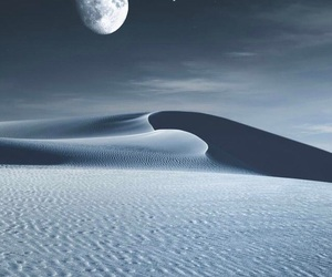 beauty, desert, and moon image