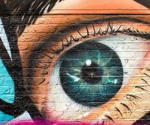 colores, pintura, and ojos image