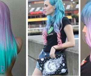 hair, hair extensions, and hairstyle image