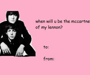 beatles, john lennon, and Paul McCartney image
