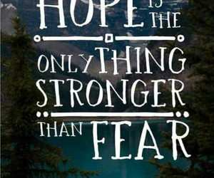 hope, quotes, and fear image