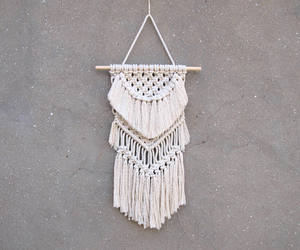 bedroom decor, macrame wall hanging, and etsy image