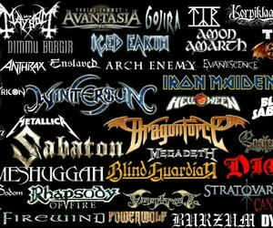 bands, metal, and music image