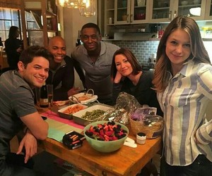 cast and Supergirl image