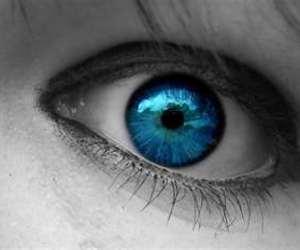 blue, color splash, and eye image