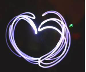 art, glow, and heart image
