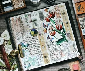 art, journal, and mixed media image