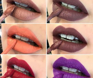 brown, inspiration, and lipstick image