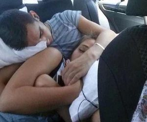 asleep, boy, and cuddle image