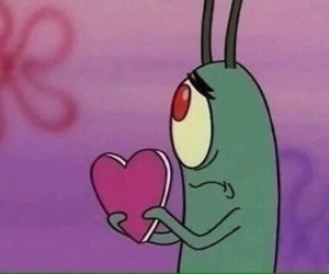 love, heart, and plankton image