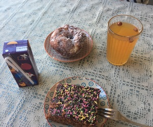 brownie, desserts, and drinks image