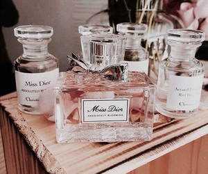 perfume, dior, and rose gold image