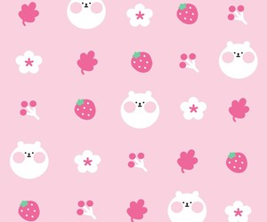 pattern, background, and bear image