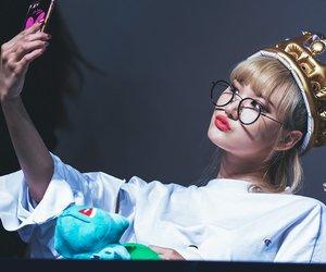 crown, glasses, and kiss image