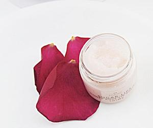 cocoa butter, lip scrub, and honey rose image
