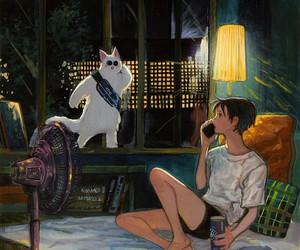 illustration, anime art, and anime boy image