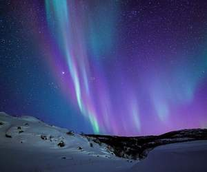 aurora, beautiful, and purple image