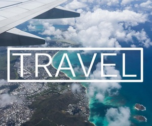 travel, adventure, and airplane image