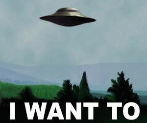 alien, I want to believe, and ufo image