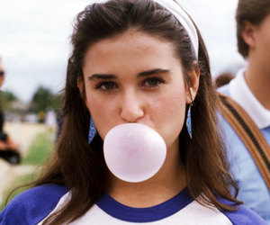 Demi Moore, fashion, and 80s image
