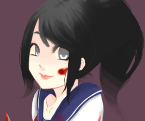 anime, yandere, and yandere simulator image