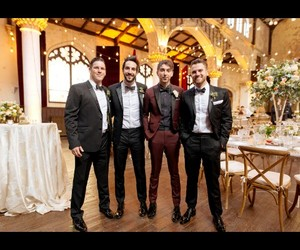alex gaskarth, dressed up, and wedding image