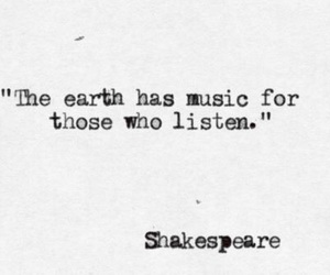 quotes, music, and shakespeare image