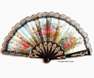 accessories, lace, and hand fan image