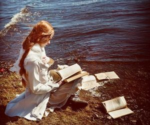 book, reading, and redhead image