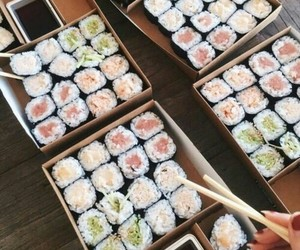 japan, food, and sushi image