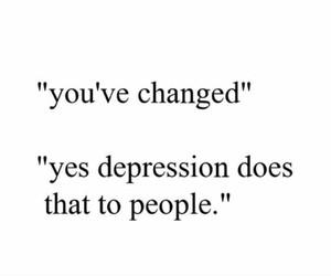 change, depression, and feelings image