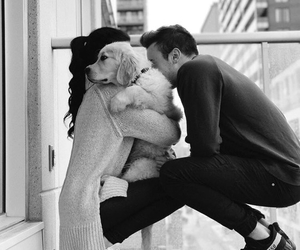 couple, dog, and goals image