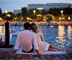 couple, lights, and paris image
