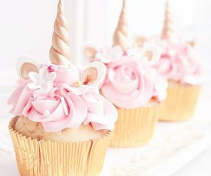 cake, cupcake, and unicorn image
