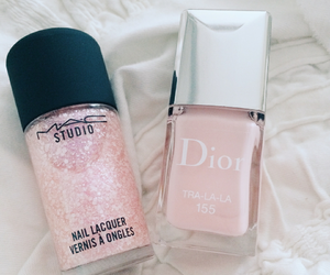 pink, nails, and dior image