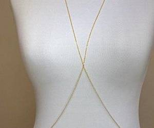 necklace, body jewelry, and body chain image