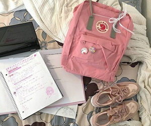 pink, aesthetic, and fjallraven kanken image