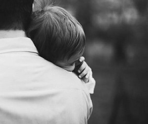 baby, black and white, and father image