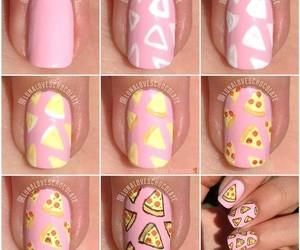 nails, pizza, and diy image