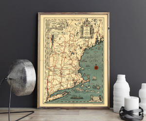 etsy, atlantic ocean, and hunnap print house image