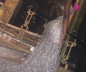 dress, glitter, and Prom image