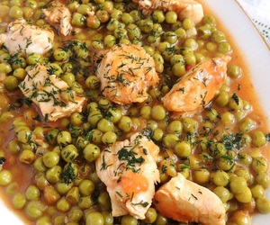 romania, 🇷🇴, and pea and chicken stew image